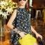 Lady Ribbon Online เสื้อผ้าออนไลน์ขายส่ง Normal Ally เสื้อผ้า,NA16220816 &#x1F389Normal Ally Present Tulip print shirt and pant with belt set&#x1F389 (เสื้อ + กางเกง + เข็มขัด) thumbnail 3