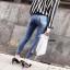 กางเกงยีนส์แฟชั่นแต่งรอยขาด แบรนด์เกาหลี Daisy thumbnail 8