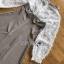 Mini Dress มินิเดรสผ้าลายสก็อตและผ้าชีฟองสีขาว thumbnail 11