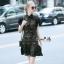 Lady Ribbon Online เสื้อผ้าออนไลน์ขายส่ง Normal Ally เสื้อผ้า,NA11220816 &#x1F389Normal Ally Present Elegance sleeve black lace lotus leaf swing&#x1F389 (เดรสผ้าลูกไม้, มีซับในอย่างดี) thumbnail 3