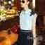 Lady Ribbon Online เสื้อผ้าออนไลน์ขายส่ง Normal Ally เสื้อผ้า,NA05220816 &#x1F389Normal Ally Present flower lace decorate shirt and pant set&#x1F389 (เสื้อแต่งลูกไม้บ่า+กางเกงกระโปรงแต่งเชือกเปียเอว) thumbnail 4