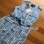 Lady Striped Sleeveless Dress with Ribbon เดรสผ้าเครป thumbnail 8