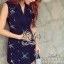 Navy Beauty Stylish Eelgant Dress thumbnail 5