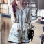 Lady Ribbon Online เสื้อผ้าออนไลน์ขายส่ง Lady Ribbon เสื้อผ้า LR09180816 &#x1F380 Lady Ribbon's Made &#x1F380 Lady Leanne Sweet Feminine Fairy Tale Embroidered Organza Dress เดรสผ้าแก้ว thumbnail 4