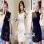 Lady Ribbon Crepe Mini Dress มินิเดรสคอสูงปักดอกไม้ thumbnail 1