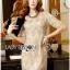 Lady Ribbon Online ขายส่งเสื้อผ้าออนไลน์ เลดี้ริบบอน LR16280716 &#x1F380 Lady Ribbon's Made &#x1F380 Lady Kate Elegant Chic Gold and Pink Lace Dress เดรสผ้าลูกไม้สี thumbnail 4
