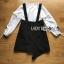 Overall Dress Lady Ribbon ขายเอี๊ยมเดรส thumbnail 6