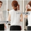 Lady Ribbon Online เสื้อผ้าออนไลน์ขายส่ง lady ribbon เสื้อผ้าLR11150816 &#x1F380 Lady Ribbon's Made &#x1F380 Lady Alice High-Neck Scallop White Lace Top เสื้อลูกไม้สีขาวทรงคอสูง thumbnail 1