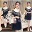 Lady Ribbon Online เสื้อผ้าออนไลน์ ขายส่ง VP06110716 Soft Denim Embroidered Shirt Dress thumbnail 1
