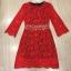 Cliona mini dress สีแดงสด แขน 5 ส่วน thumbnail 4