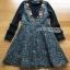 Lady Heidi Flower Black Tweed Dress thumbnail 6