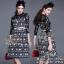 ST10310716 &#x1F340สินค้าพร้อมส่ง&#x1F340 한국에 의해 설계된 2Sister Made, Eastern Style Dress with Belt เดรสลุคเรียบหรู เนื้อผ้าผสมsilkหนาเกรดดี พิมพ์ thumbnail 1