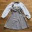 Mini Dress มินิเดรสผ้าลายสก็อตและผ้าชีฟองสีขาว thumbnail 12