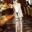 Lady Ribbon Online เสื้อผ้าออนไลน์ขายส่ง Normal Ally เสื้อผ้า,NA09220816 &#x1F389Normal Ally Present Casual cotton linen Blazer and short set&#x1F389 (Blazer + กางเกง , มีซับในอย่างดี) thumbnail 5