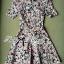 Lady Ribbon Online ขายส่งเสื้อผ้าออนไลน์ เลดี้ริบบอน LR20280716 &#x1F380Lady Ribbon's Made&#x1F380Lady Lana Flower Print A-Line Dress เดรสแขนสั้น thumbnail 5