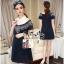 Lady Ribbon Online เสื้อผ้าออนไลน์ ขายส่ง VP06110716 Soft Denim Embroidered Shirt Dress thumbnail 3