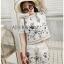 Lady Ribbon White Cotton Set ขายเซ็ตเสื้อคอตตอน thumbnail 4