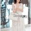 White Guipure Lady Ribbon Lace Dress thumbnail 3