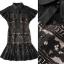 Lady Ribbon Online เสื้อผ้าออนไลน์ขายส่ง Normal Ally เสื้อผ้า,NA11220816 &#x1F389Normal Ally Present Elegance sleeve black lace lotus leaf swing&#x1F389 (เดรสผ้าลูกไม้, มีซับในอย่างดี) thumbnail 6