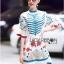 Printed Ruffle-Sleeve Dress เดรสผ้าเครป thumbnail 2