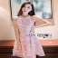 Lady Ribbon Ashley Pretty Feminine Butterfly-Embroidered Pearl Embellished Pink Dress thumbnail 3