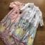 Lady Ribbon Shirt Dress เชิ้ตเดรสปัก ลายสีพาสเทล thumbnail 5