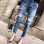 กางเกงยีนส์แฟชั่นแต่งรอยขาด แบรนด์เกาหลี Daisy thumbnail 10