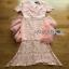 Lady Ribbon Pink Lace Dress with Organza Ruffle thumbnail 9