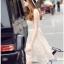 Lady Ribbon Online ขายส่งเสื้อผ้าออนไลน์เลดี้ริบบอน LR16010816 &#x1F380 Lady Ribbon's Made &#x1F380 Lady Selena Classic Elegant Sleeveless White Mixed Lace Top เ thumbnail 5