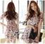 Lady Ribbon Online ขายส่งเสื้อผ้าออนไลน์ เลดี้ริบบอน LR20280716 &#x1F380Lady Ribbon's Made&#x1F380Lady Lana Flower Print A-Line Dress เดรสแขนสั้น thumbnail 1