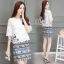 Sevy Two Pieces Of Lace Blouse With Northern Skirt Sets Type: Blouse+Skirt thumbnail 4