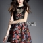 Lady Modern Hippie Floral Embroidered and Printed Dress thumbnail 2