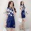 Sevy Two Pieces Of Glam Sleeveless Shirt With Skirt Sets thumbnail 2