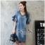 Lady Ribbon Online ขายส่งเสื้อผ้าออนไลน์ Very very pretty เสื้อผ้า VP04100816 Chic Denim Flared sleeves Dress thumbnail 3