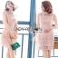 Lady Ribbon Old-Rose Guipure Lace Mini Dress thumbnail 1