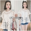 Lady Ribbon Online ขายส่งเสื้อผ้าออนไลน์ ขายส่งของแท้พร้อมส่ง Lady Ribbon LR15250716 &#x1F380 Lady Ribbon's Made &#x1F380 Lady Romy Romantic White Guipure Lace and Cotton Top thumbnail 3