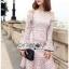 Off-Shoulder Lady Ribbon Lace Dress thumbnail 4