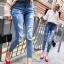 กางเกงยีนส์แฟชั่นแต่งรอยขาด แบรนด์เกาหลี Daisy thumbnail 13