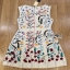 Lady Ribbon Mini Dress มินิเดรสสีครีมปักลายดอกไม้ thumbnail 5