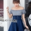 Lady Carrie Country Girl Off-Shoulder Blue thumbnail 2