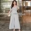 Lady Ribbon Pale-Grey Jumpsuit จัมป์สูทขายาว thumbnail 1