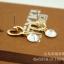 C251 - ต่างหูแฟชั่น ต่างหูหนีบ ต่างหูเกาหลี ตุ้มหูแฟชั่น ตุ้มหู ต่างหู เครื่องประดับ glossy Heart quality zircon earrings thumbnail 9