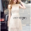 Lady Ribbon Online ขายส่งเสื้อผ้าออนไลน์เลดี้ริบบอน LR16010816 &#x1F380 Lady Ribbon's Made &#x1F380 Lady Selena Classic Elegant Sleeveless White Mixed Lace Top เ thumbnail 3