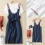 Lady Ribbon Online เสื้อผ้าออนไลน์ขายส่ง Normal Ally เสื้อผ้า NA01180816 &#x1F389Normal Ally Present Thom Browne style T-shirt and bib skirt&#x1F389 thumbnail 6