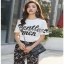 Lady Ribbon T-Shirt and Floral Pants Set เซ็ตเสื้อยืดสีขาว thumbnail 6