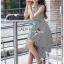 Chic Asymmetric Lady Ribbon Striped Dress thumbnail 4