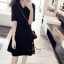 เสื้อผ้าแฟชั่นชุดเดรสเกาหลีผ้ายืด thumbnail 3