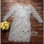 Captivating Elegant Floral Lace Dress thumbnail 5