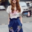 Lady Lizzy Casual Holiday Flower Denim Skirt Set thumbnail 4