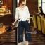 Normal Ally Present Casual Lace autumn set&#x1F389 (เสื้อ + กางเกง, มีซับใน) thumbnail 5